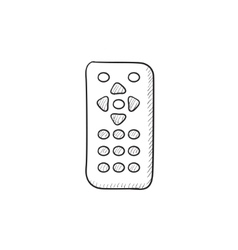 Remote control sketch icon vector image