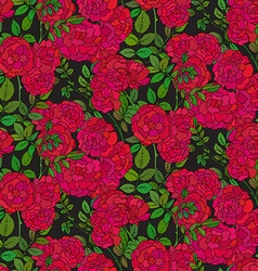 Seamless pattern with colorful bush roses vector