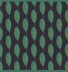 Seamless pattern with striped leaves vector