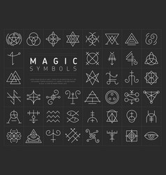 Set of icons for magic symbols vector