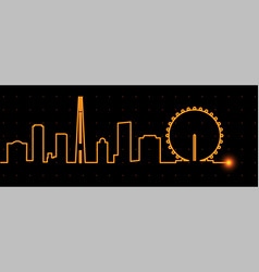 Singapore light streak skyline vector