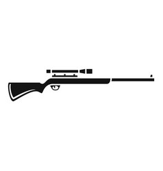 Sniper scope rifle icon simple style vector