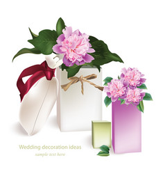 Spring delicate flowers bouquet card beautiful vector