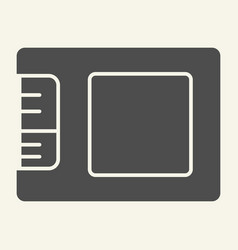 ssd drive solid icon storage vector image