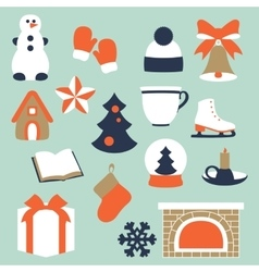 Stock of winter and Christmas vector
