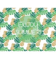 Summer pattern background vector