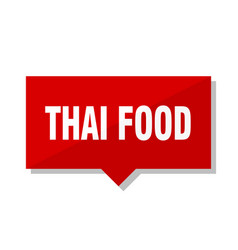 Thai food red tag vector