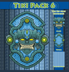 Tiki pack 6 vector