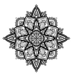 Tracery black and white zen mandala the object is vector