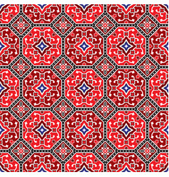 traditional ajrak pattern vector image