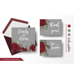 Wedding invite invitation thank you card design vector