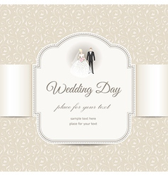 wedding pattern beige vector image