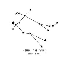 Zodiac constellation gemini vector