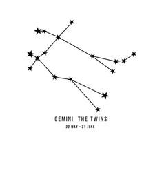 Zodiac constellation gemini vector