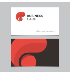 business card 01 vector image vector image