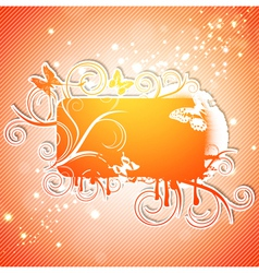 Butterfly Abstract Frame vector image vector image