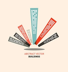 Flat Design Buildings vector image