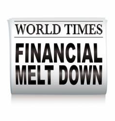 newspaper financial vector image