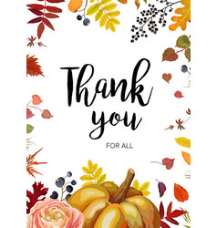 Thank you greeting card postcard design with vector