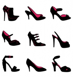 fashion shoes silhouettes vector image vector image