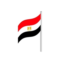 Flag of Egypt icon isometric 3d style vector image vector image