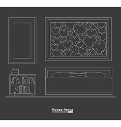furniture design vector image
