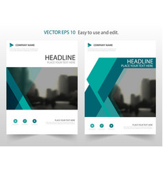 green material design annual report leaflet vector image vector image