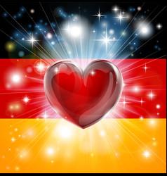 Love germany flag heart background vector