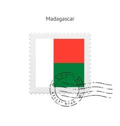 Madagascar Flag Postage Stamp vector image vector image