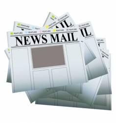 newspaper pile vector image