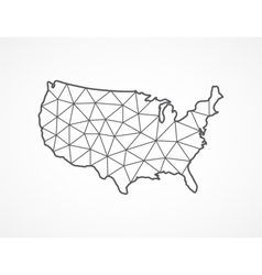 USA map in geometric style vector image