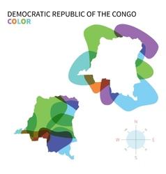 Abstract color map of Democratic Republic vector image
