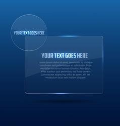 glass frame 2 vector image