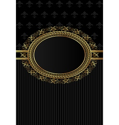 luxury vintage frame for design packing - vector image vector image