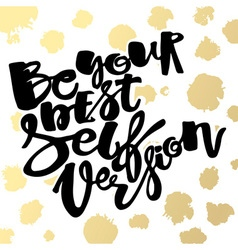 Be yourself poster vector image vector image