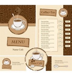 cafe style vector image