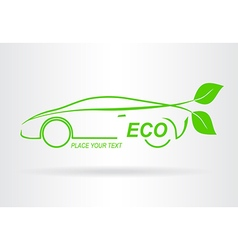 Car ECO vector image