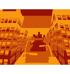cool cityscape vector image vector image