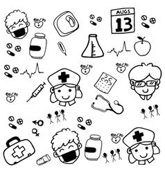 Medicine drawn doodle vector image