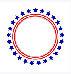 round frame with american symbols vector image vector image