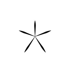 asterisk outline icon linear style sign vector image