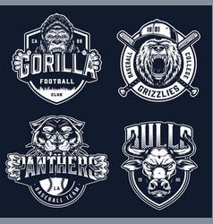 Baseball and soccer clubs logotypes vector