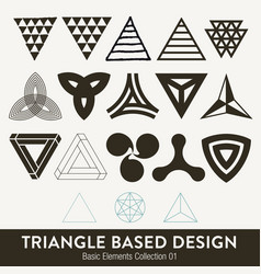 basic element collection triangle based design vector image