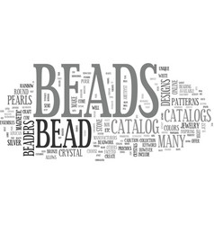Bead catalog text word cloud concept vector