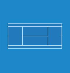 blue tennis court vector image