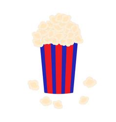 Bucket full of popcorn vector