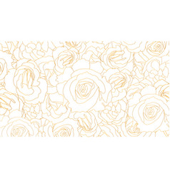 buds roses pattern flower buds in vector image