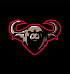 Buffalo e sport logo icon vector