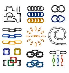 Chain links set vector