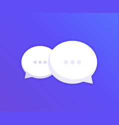 chat speech bubble icon logo template vector image